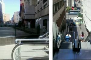 En las imágenes accesos existentes desde la Calle Vargas a Isaac Peral y a la  Calle Alta.
