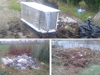 Puntos de basuras incontrolados en Barreda