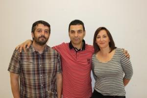 Jorge Crespo, Luis Revilla y Mª Jesús Santamaría, cabezas de lista de IU en Camargo