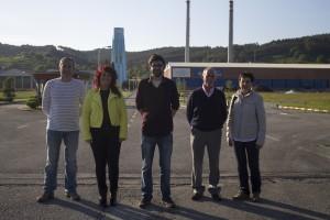 Empezando por la izquierda, Daniel Gutiérrez, Leire Bonachea, Rubén Vicente Carrillo, Jesús Villar y Rosario Temprano, principales representantes de la candidatura de IU en Piélagos