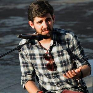 Rubén V. Carrillo, portavoz de IU de Piélagos, en un acto de campaña.
